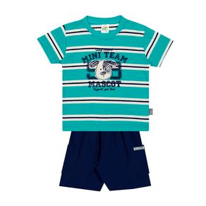Conjunto-Camiseta-Meia-Malha-Fio-Penteado-Bermuda-Nylon-Listrado-Esmeralda-Marinho---Pulla-Bulla