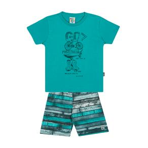 Conjunto-Camiseta-Meia-Malha-Fio-Penteado-Bermuda-Nylon-Sublimado-Esmeralda-Rotativo-Esmeralda---Pulla-Bulla