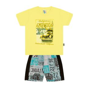 Conjunto-Camiseta-Meia-Malha-Fio-Penteado-Bermuda-Nylon-Sublimado-Limao-Rotativo-Piscina---Pulla-Bulla