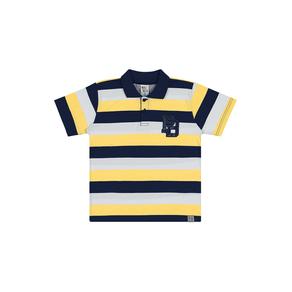 Camiseta-Polo-Meia-Malha-Rotativa-Fio-Penteado-Rotativo-Amarelo---Pulla-Bulla