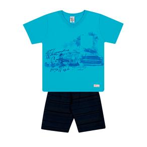 Conjunto-Camiseta-Meia-Malha-Flame-Fio-Penteado-Bermuda-Sarja-Turquesa-Marinho---Pulla-Bulla