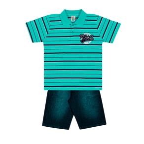 Conjunto-Camiseta-Meia-Malha-Fio-Tinto-Penteado-Bermuda-Indigo-7-Oz-Listrado-Menta-Indigo---Pulla-Bulla