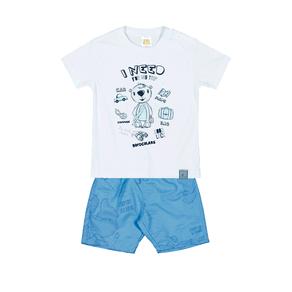 Conjunto-Camiseta-Meia-Malha-Fio-Penteado-Bermuda-Nylon-Sublimado-Branco-Rotativo-Ceu---Pulla-Bulla