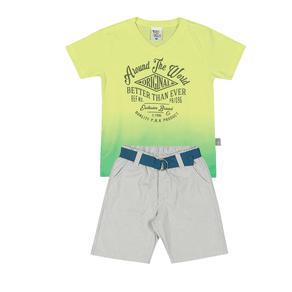 Conjunto-Camiseta-Meia-Malha-Fio-Penteado-Bermuda-Sarja-Fio-Tinto-Verde-Agua-Listrado-Cinza---Pulla-Bulla