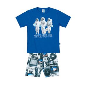 Conjunto-Camiseta-Meia-Malha-Flame-Fio-Penteado-Bermuda-Nylon-sublimado-Royal-Rotativo-Royal---Pulla-Bulla