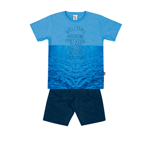Conjunto-Camiseta-Meia-Malha-Flame-Fio-Penteado-Bermuda-Nylon-Ceu-Marinho---Pulla-Bulla