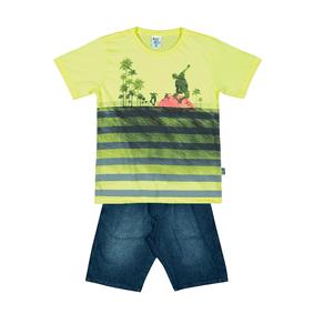 Conjunto-Camiseta-Meia-Malha-Fio-Penteado-Bermuda-Indigo-7-Oz-Verde-Agua-Indigo---Pulla-Bulla