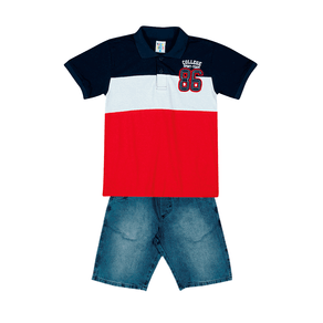 Conjunto-Camiseta-Meia-Malha-Fio-Penteado-Bermuda-Indigo-7-Oz-Vermelho-Indigo---Pulla-Bulla