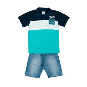 Conjunto-Camiseta-Meia-Malha-Fio-Penteado-Bermuda-Indigo-7-Oz-Piscina-Indigo---Pulla-Bulla