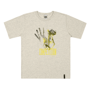 Camiseta-Meia-Malha-Fio-Penteado-Mescla-Banana---Pulla-Bulla