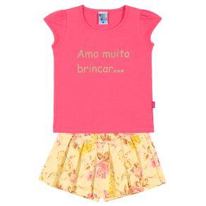 Conjunto-Blusa-Cotton-Leve-Fio-Penteado-Short-Saia-Sarja-Estampada-Sorvete-Rotativo-Amarelo---Pulla-Bulla