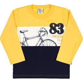 Camiseta-Masculino-Primeiros-Passos---Amarelo---35754-4---Pulla-Bulla---Inverno-2017