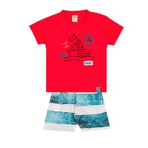 Conjunto-Camiseta-Meia-Malha-Fio-Penteado-Bermuda-Nylon-Sublimado-Vermelho-Rotativo-Marinho---Pulla-Bulla