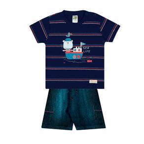 Conjunto-Camiseta-Meia-Malha-Fio-Penteado-Bermuda-Indigo-7-Oz-Listrado-Marinho-Indigo---Pulla-Bulla