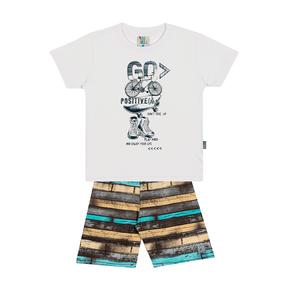 Conjunto-Camiseta-Meia-Malha-Fio-Penteado-Bermuda-Nylon-Sublimado-Branco-Rotativo-Turquesa---Pulla-Bulla