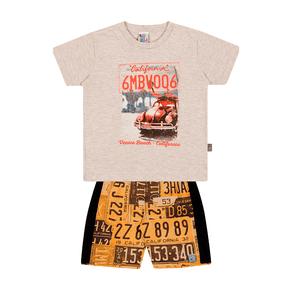Conjunto-Camiseta-Meia-Malha-Fio-Penteado-Bermuda-Nylon-Sublimado-Mescla-Banana-Rotativo-Laranja---Pulla-Bulla