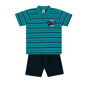 Conjunto-Camiseta-Meia-Malha-Fio-Tinto-Penteado-Bermuda-Indigo-7-Oz-Listrado-Cobalto-Indigo---Pulla-Bulla