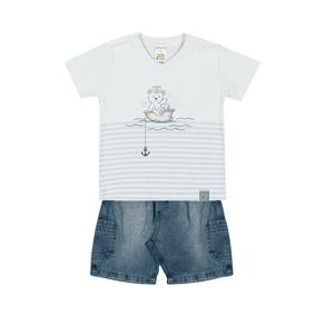 Conjunto-Camiseta-Meia-Malha-Fio-Penteado-Bermuda-Indigo-7-Oz-Branco-Indigo---Pulla-Bulla