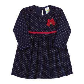Vestido-Bebe-Menina---Poa-Marinho---38515-1080-G---Pulla-Bulla---Inverno-2019