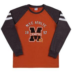 Camiseta-Juvenil-Menino---Mescla-Preto---38855-876-12---Pulla-Bulla---Inverno-2019