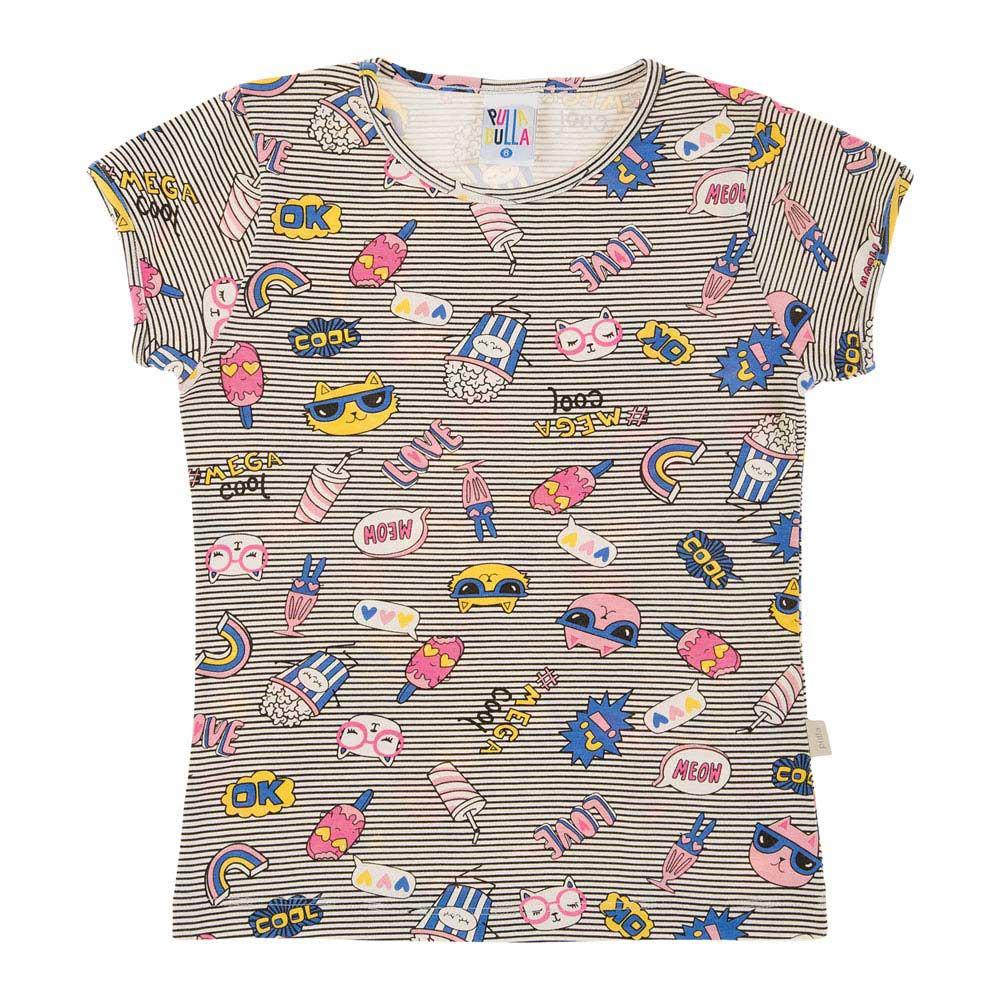 Conjunto Rotativo Listrado Preto Infantil Menina Cotton 39334-1119