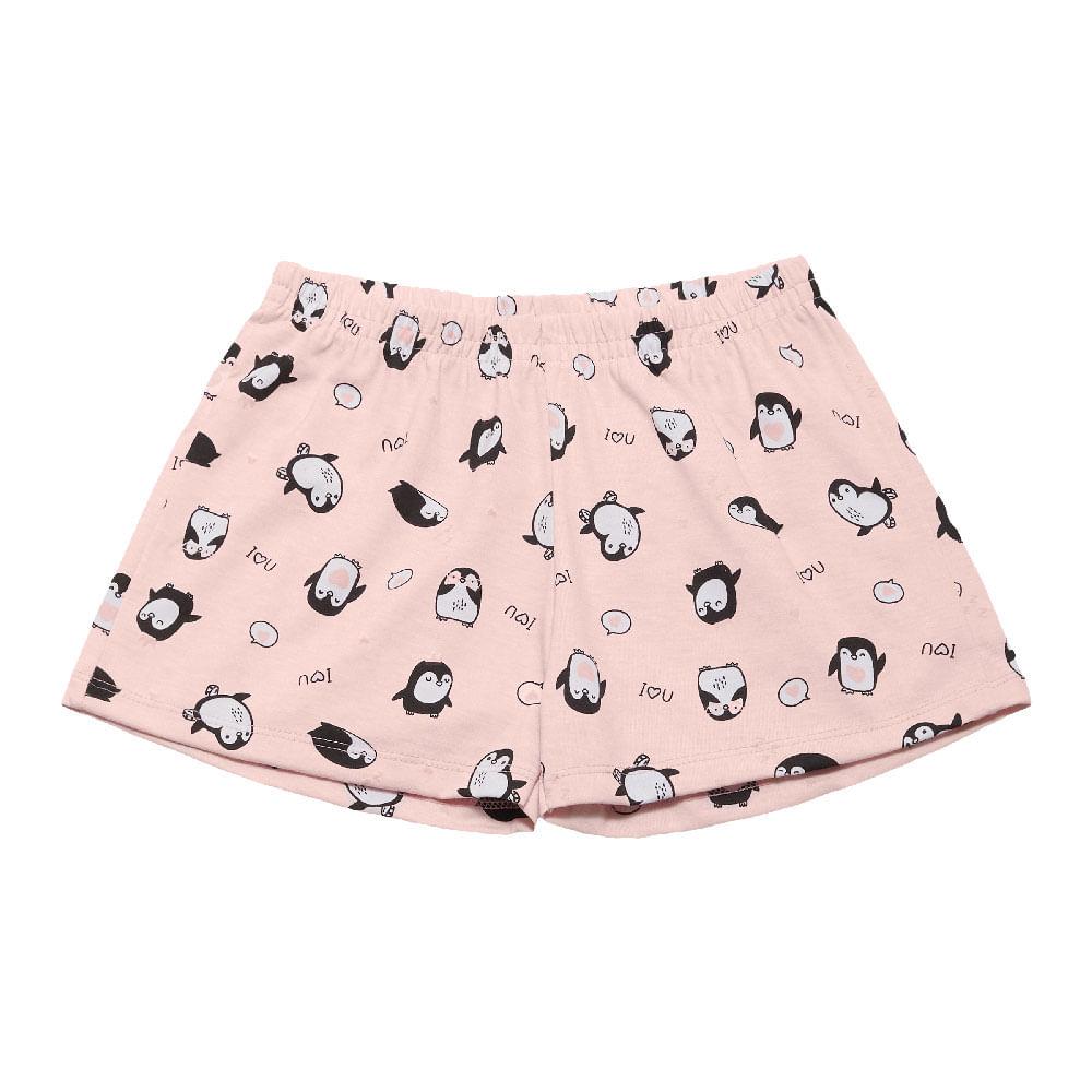 Pijama Rosê - Primeiros Passos Menina Meia Malha 42600-1