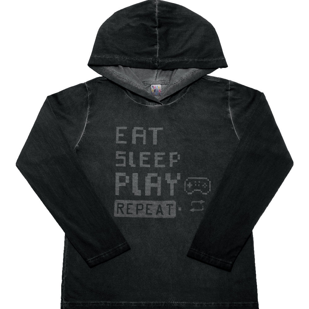 Camiseta Preto - Juvenil Menino Meia Malha 42457-51