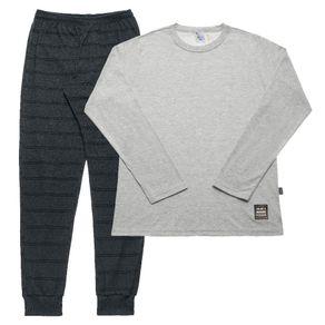 Pijama-Juvenil-Menino---Mescla-Cinza---42850-188-12---INVERNO-2020