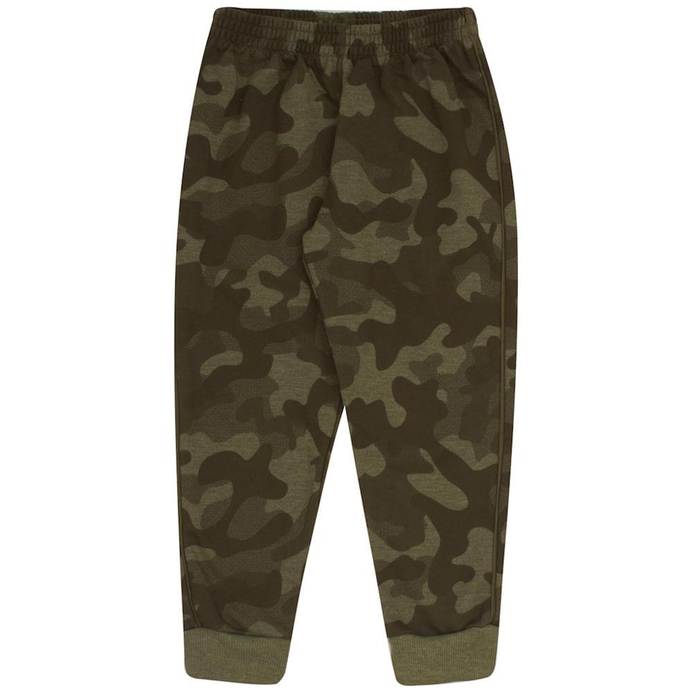 Calça Sublimado Mescla Militar - Primeiros Passos - Menino Moletom 45361-1167
