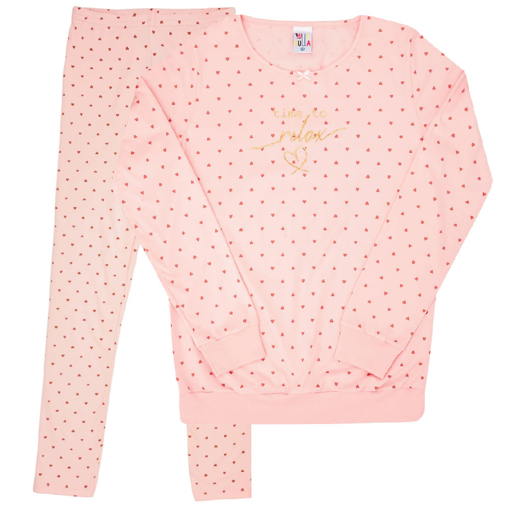 Conjunto Pijama Rotativo Rosê - Juvenil - Menina 12 45180-262
